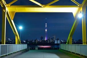 スカイツリーと橋の写真素材 [FYI00436013]