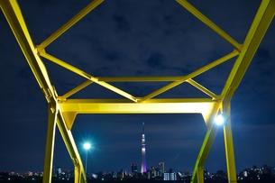 スカイツリーと鉄橋の写真素材 [FYI00436020]