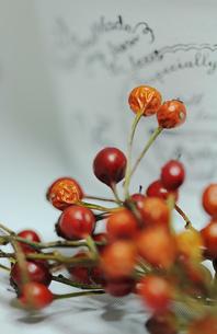 白いミニ植木鉢と薔薇の蕾の素材 [FYI00436144]