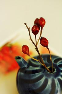 ミニ花瓶と薔薇のつぼみの素材 [FYI00436152]