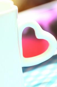 ハートのコーヒーカップの素材 [FYI00436162]