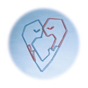 pin_heart_kissの写真素材 [FYI00436165]