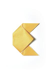 折り紙_Eの写真素材 [FYI00436184]