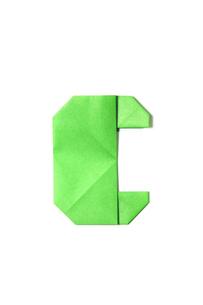折り紙_Cの写真素材 [FYI00436188]