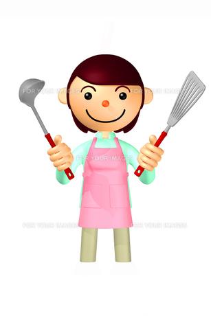 お母さん キッチン用品の写真素材 [FYI00436193]