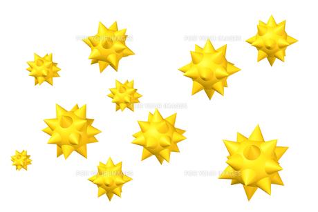 アレルゲン 黄色の写真素材 [FYI00436204]