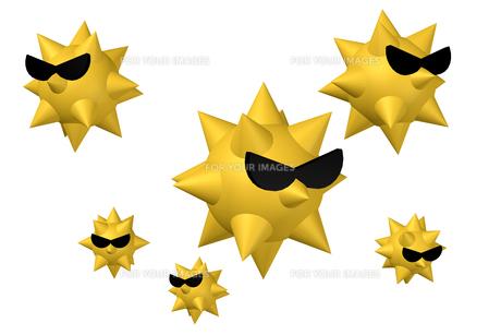 アレルゲン 黄色 サングラスの写真素材 [FYI00436205]