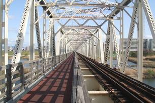 赤川鉄橋の写真素材 [FYI00436234]