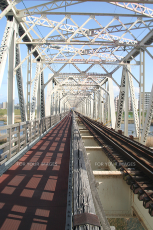 赤川鉄橋の写真素材 [FYI00436257]