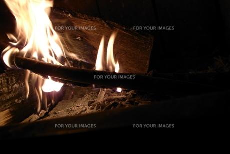 暖炉の写真素材 [FYI00436357]