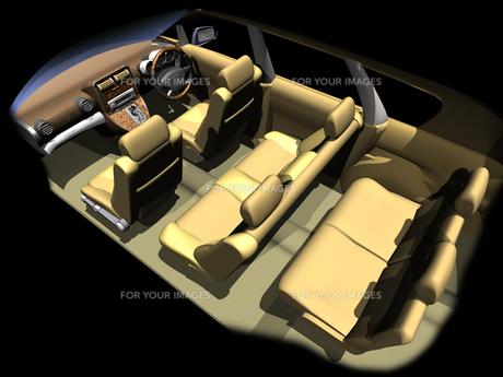 仮想の乗用車車内の写真素材 [FYI00436394]