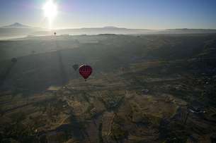 上空からの朝日の写真素材 [FYI00436613]