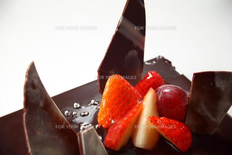 チョコレートケーキの写真素材 [FYI00436928]