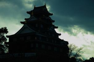 風の中の城の写真素材 [FYI00437048]