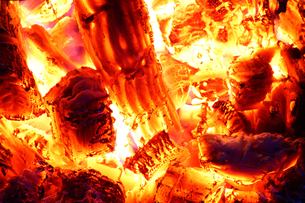 釜の火の写真素材 [FYI00437109]