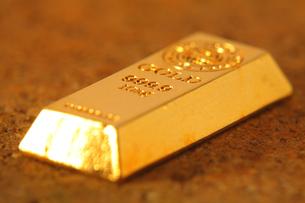 金の塊の写真素材 [FYI00437128]