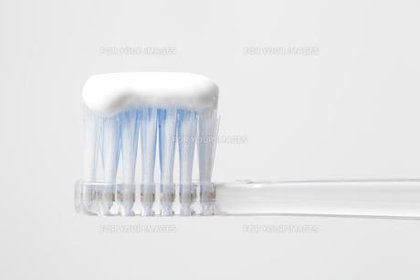 歯ブラシと歯磨き粉の写真素材 [FYI00437179]