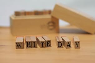 ホワイトデーのロゴの写真素材 [FYI00437423]