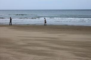 休日の海岸の写真素材 [FYI00437785]