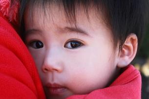 赤ちゃんの見詰める瞳の写真素材 [FYI00437884]