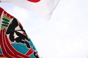 大漁旗の素材 [FYI00437885]