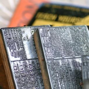 古い辞書の版下の写真素材 [FYI00438977]