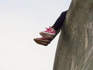 デートする二人の足の写真素材 [FYI00439026]