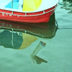 水に映ったスワンボートの写真素材 [FYI00439040]