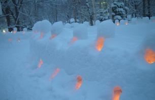 奥日光の雪まつりの写真素材 [FYI00439054]