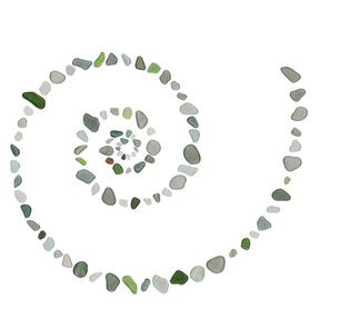 ガラス透過:渦巻の素材 [FYI00439173]