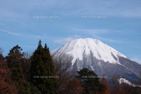 大山と紅葉の写真素材 [FYI00439289]