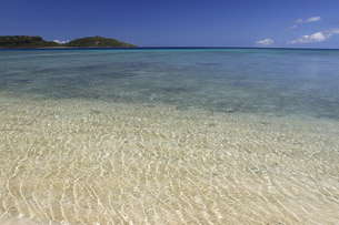 青く透きとおったビーチの写真素材 [FYI00439515]