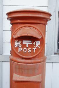 レトロな郵便ポスト吉良川の町並みの写真素材 [FYI00439778]
