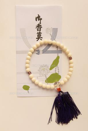 数珠 御香奠 御香典の写真素材 [FYI00439922]