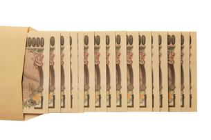 お金 現金 一万円札 封筒の写真素材 [FYI00439993]