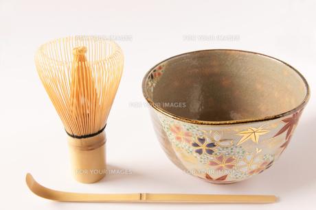茶道 茶器 茶碗 茶筅 茶杓の素材 [FYI00440005]