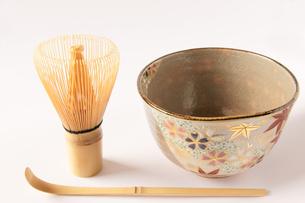 茶道 茶器 茶碗 茶筅 茶杓の写真素材 [FYI00440005]