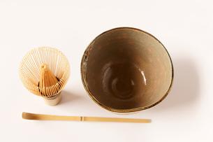 茶道 茶道具 茶器 茶碗 茶筅 茶杓の写真素材 [FYI00440016]