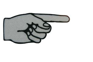 左手 指さすの写真素材 [FYI00440032]