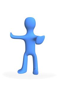 3D 人 ブルーマンの写真素材 [FYI00440041]