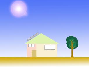 太陽光発電の家の写真素材 [FYI00440045]