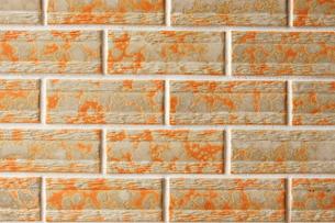 オレンジ色のタイルの写真素材 [FYI00440054]