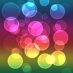光る輪の背景 ピンク 青の写真素材 [FYI00440153]