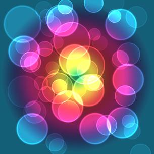 輝く輪の背景 青の写真素材 [FYI00440162]