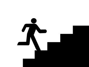 階段を上る人のイラスト 右向きの写真素材 [FYI00440187]
