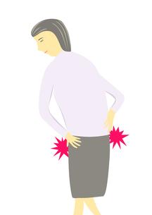 腰痛の女性のイラストの写真素材 [FYI00440209]