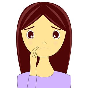 困った表情をした女性のイラストの写真素材 [FYI00440238]