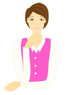 困った表情をした女性のイラストの写真素材 [FYI00440245]