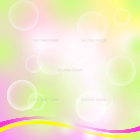 泡とラインのパステルカラーの背景の素材 [FYI00440267]