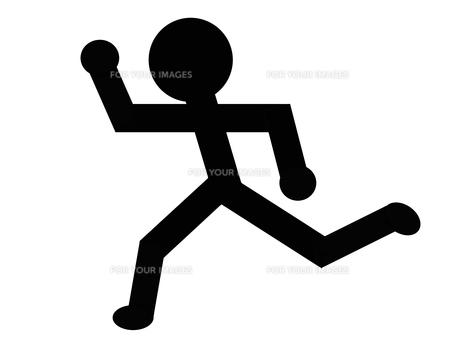 左向きに走る人のイラストの写真素材 [FYI00440277]